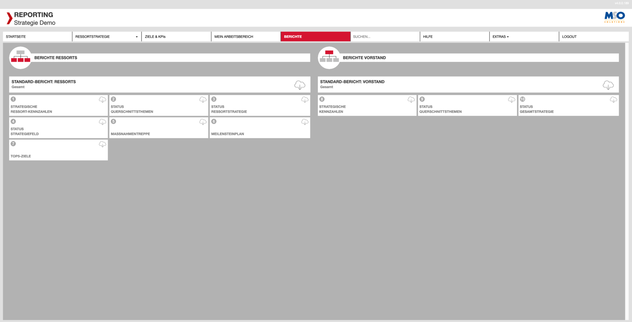 MSO TRACK Software Reports und Echtzeitauswertungen.